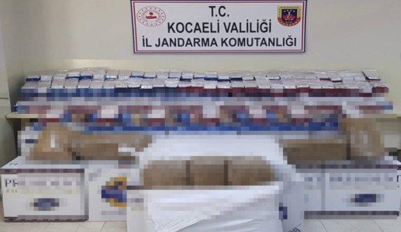 Kocaeli'de 344 bin 200 makaron ele geçirildi