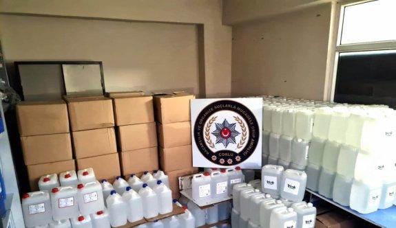 Tekirdağ'da kaçak 3 bin 500 litre etil alkol ele geçirildi