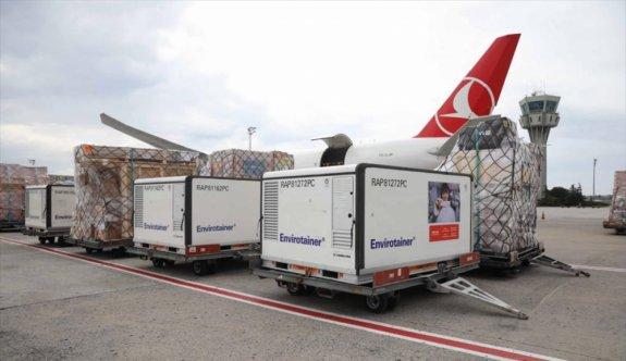 Turkish Cargo, UNICEF'in Kovid-19 aşılarını taşıyor