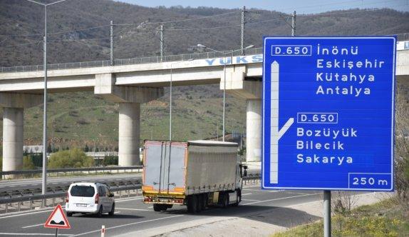 Bilecik-Antalya kara yolunda