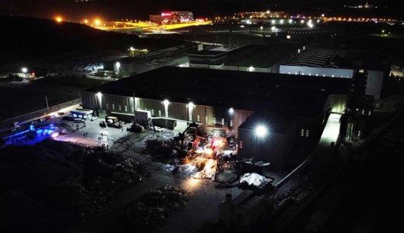 Bilecik'te alüminyum fabrikasında çıkan yangın söndürüldü