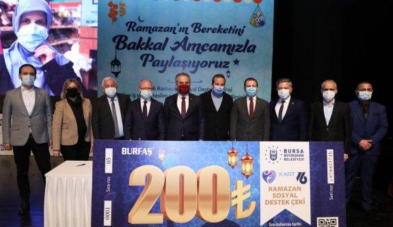Bursa Büyükşehir Belediyesi, ramazanda 100 bin ihtiyaç sahibine alışveriş çeki dağıtacak