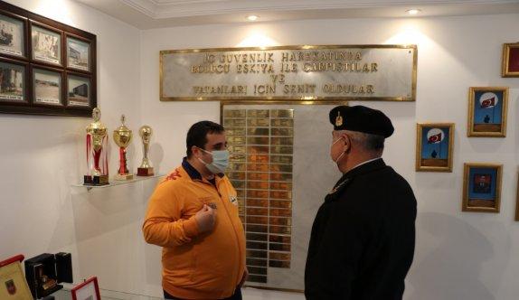 Edirne'de otizmli genç jandarmanın misafiri oldu