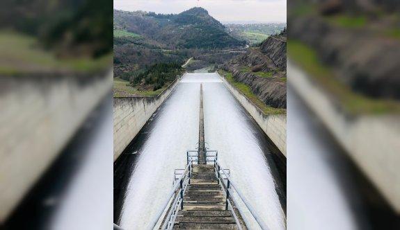 Kocaeli'deki Yuvacık Barajı'nda doluluk oranı yüzde 98'e ulaştı