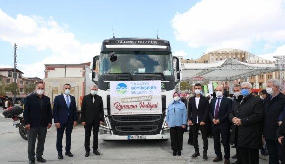 Sakarya'dan kardeş şehir Şırnak'taki ihtiyaç sahiplerine gıda yardımı