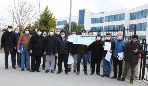 Tekirdağ'da tapularını alamadıklarını iddia eden site sakinleri suç duyurusunda bulundu