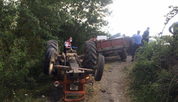Balıkesir'de traktör devrildi: 1 ölü, 1 yaralı