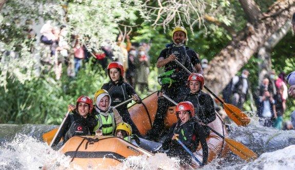 Bursa'da Kocasu Deresi'nin rafting parkuru açıldı