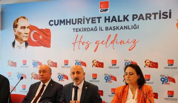 CHP Genel Başkan Yardımcısı Öztunç, Tekirdağ'da ziyaretlerde bulundu