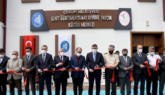 Çorum'da Aybüke öğretmenin ismini taşıyan kültür merkezi şehadetinin 4'üncü yılında hizmete açıldı