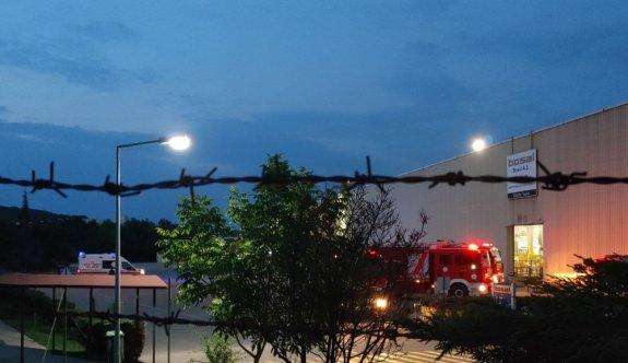Kocaeli'nde metal işleme fabrikasında çıkan yangın söndürüldü