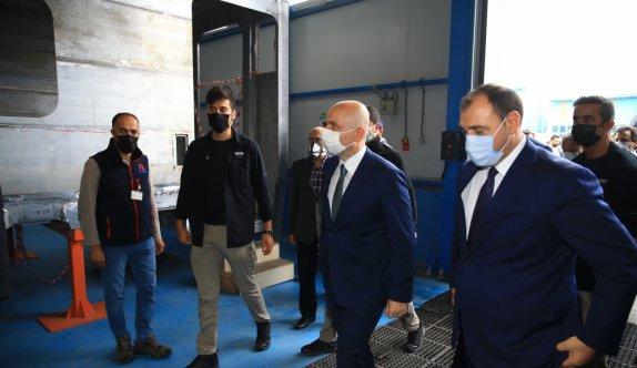 Ulaştırma ve Altyapı Bakanı Karaismailoğlu, TÜRASAŞ Sakarya Bölge Müdürlüğü ziyaretinde konuştu: