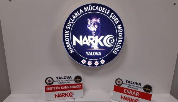 Yalova'da düzenlenen uyuşturucu operasyonunda iki kişi tutuklandı