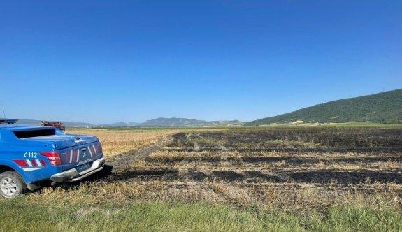 Bilecik'te tarım arazisinde çıkan yangın söndürüldü