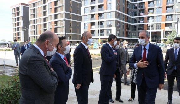 Adalet Bakanı Gül, Edirne'de adliye personeliyle yemek yedi: