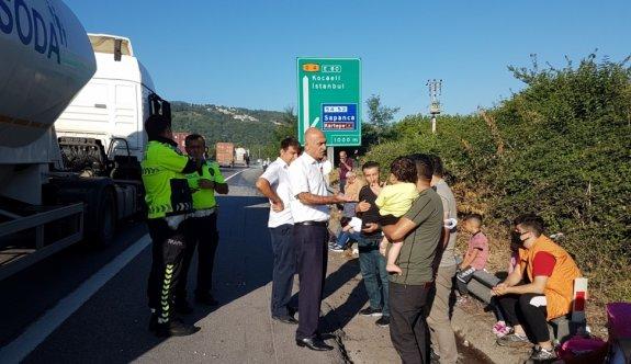 Anadolu Otoyolu'nda zincirleme trafik kazası: 10 yaralı