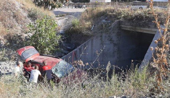 Bilecik'te otomobilin şarampole devrilmesi sonucu aynı aileden 4 kişi yaralandı