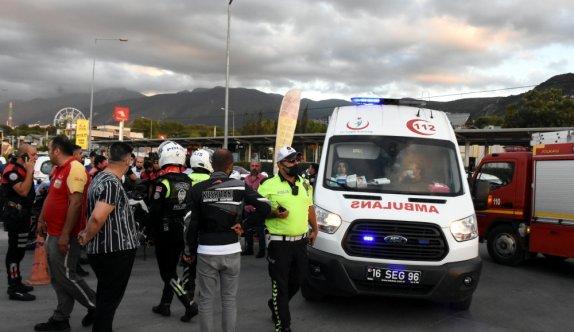 Bursa'da polisi görünce kaçan şüphelilerin kullandığı otomobilin çarptığı kadın ağır yaralandı