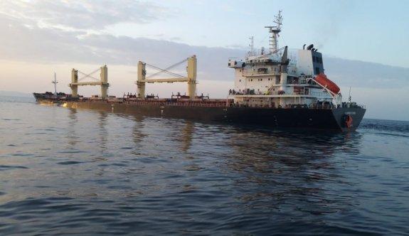 Çanakkale açıklarındaki kazada hasar gören yük gemisi İzmir'e götürüldü