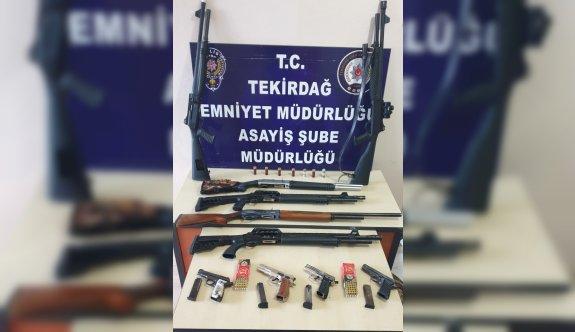 Tekirdağ'da asayiş operasyonunda 10 şüpheli yakalandı
