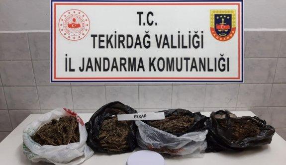 Tekirdağ'da evinde uyuşturucu bulunan zanlı tutuklandı
