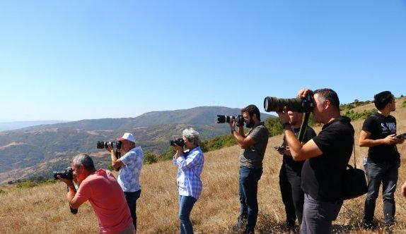 Tekirdağ'da fotoğraf tutkunları Ganos Dağı eteklerinde buluştu