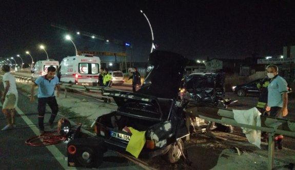 Tekirdağ'da otomobil refüje çarptı: 2 yaralı