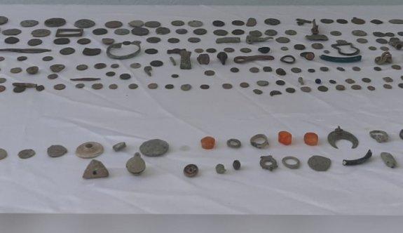 Tekirdağ'da tarihi eser niteliğinde 212 sikke ve obje ele geçirildi