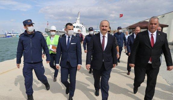 Edirne'de Enez Deniz Gümrük Kapısı liman inşaatı sürüyor