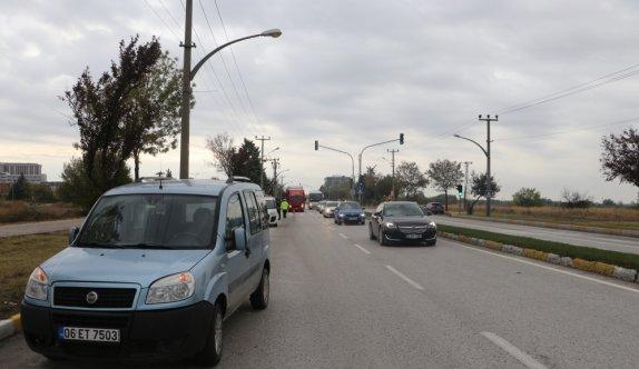 Edirne'de yaya geçidinde otomobilin çarptığı kişi yaralandı