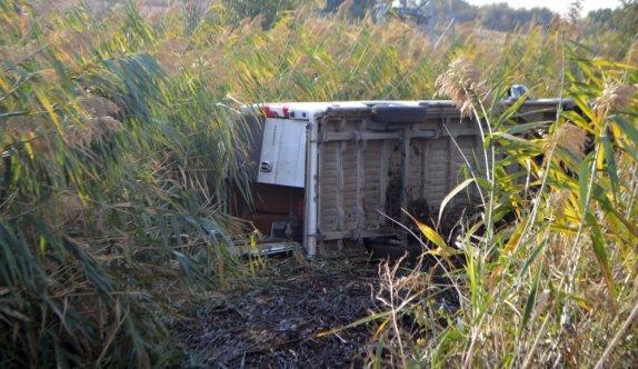Kırklareli'nde diyaliz hastalarını taşıyan minibüs devrildi, 7 kişi yaralandı