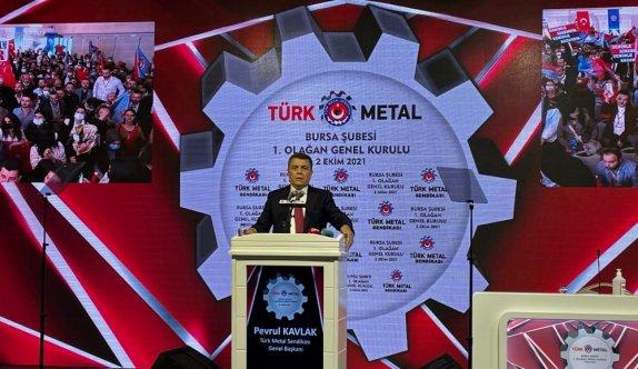 Türk Metal Sendikası Başkanı Kavlak, Bursa Şubesi 1. Olağan Genel Kurulu'na katıldı