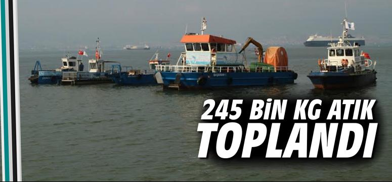 245 bin kg atık toplandı