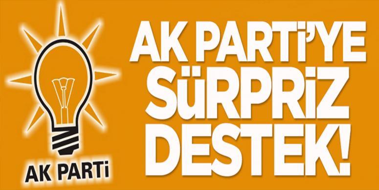 AK Parti'ye sürpriz destek!