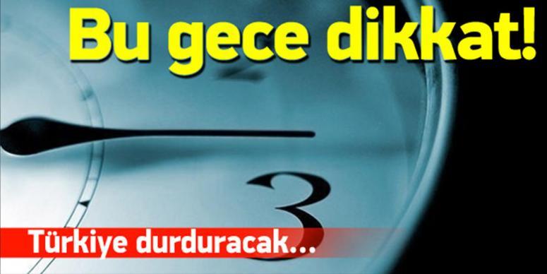 Dünya yarın, Türkiye 8 Kasım'da geri alacak