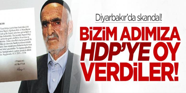 Onların adına HDP'ye oy verdiler