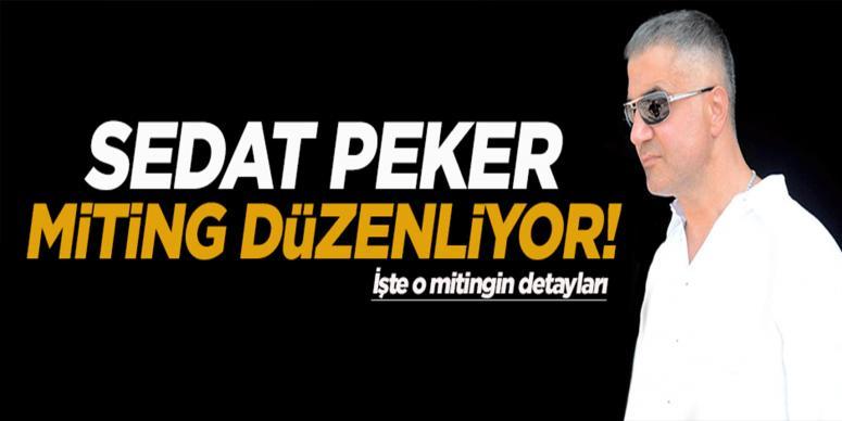 Sedat Peker miting düzenliyor!