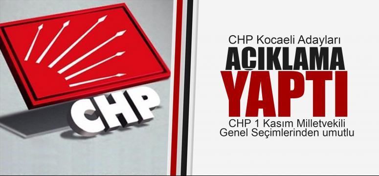 CHP'li adaylar umutlu