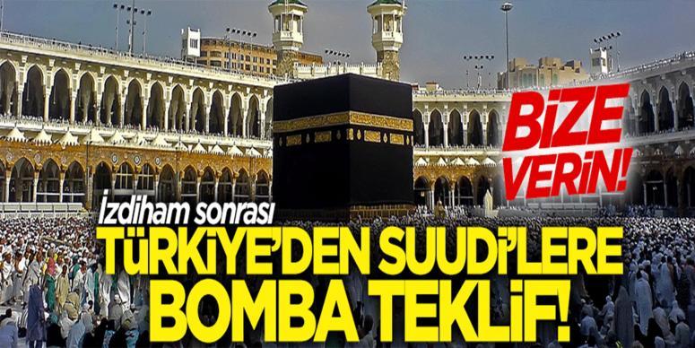 Türkiye'den Suudi Arabistan'a hac organizasyonu teklifi!