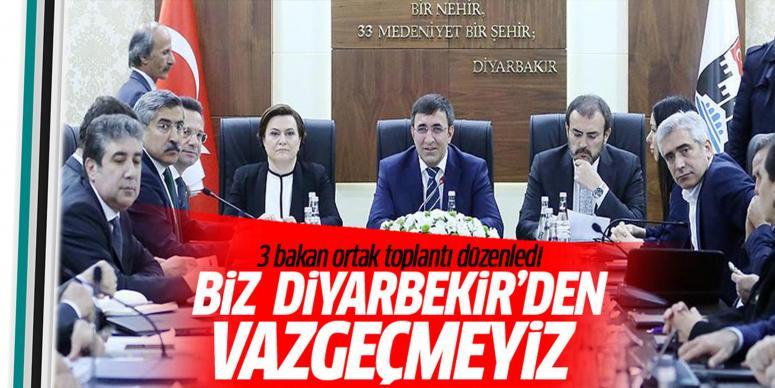 Bakanlardan Diyarbakır'da ortak açıklama