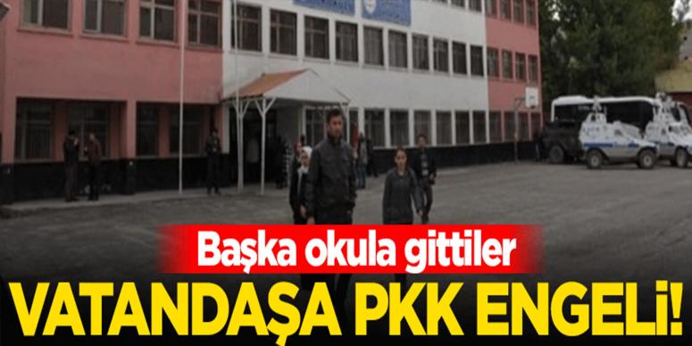 Seçmene PKK engeli!