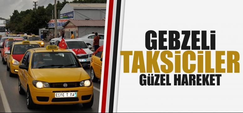 Gebze'de Taksiciler Terörü Protesto Etti