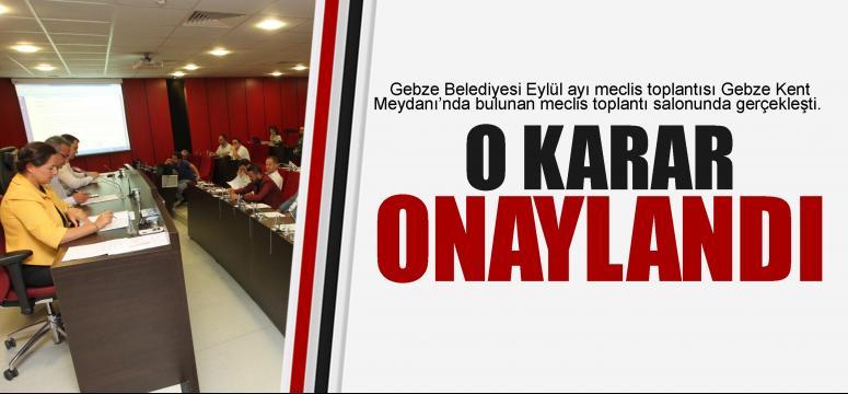 Gebze'de Eylül meclisi yapıldı