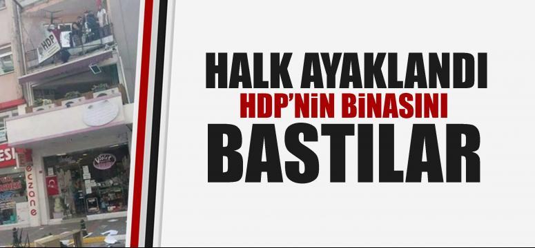 Vatandaşlar HDP binasını bastı