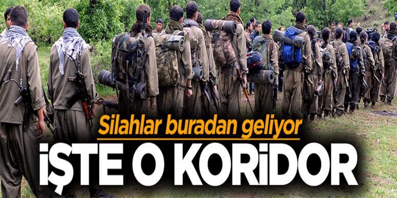PKK'nın silah koridoru ortaya çıktı