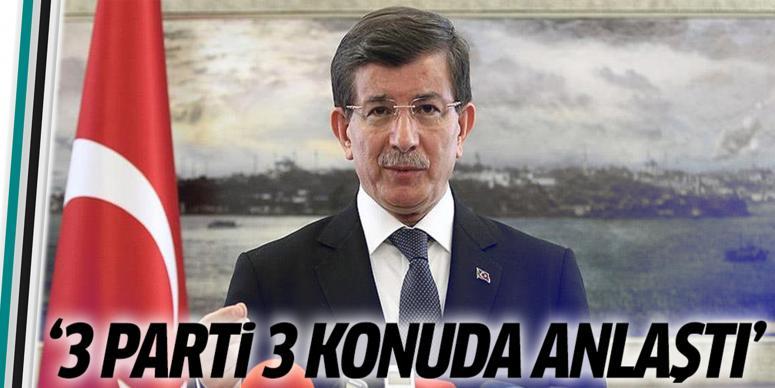 Davutoğlu'ndan yeni anayasa ile ilgili açıklamalar
