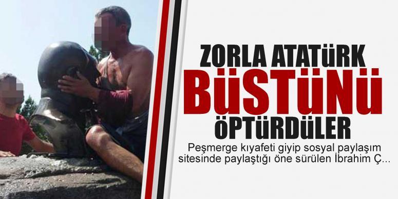 Atatürk büstü öptürüldü