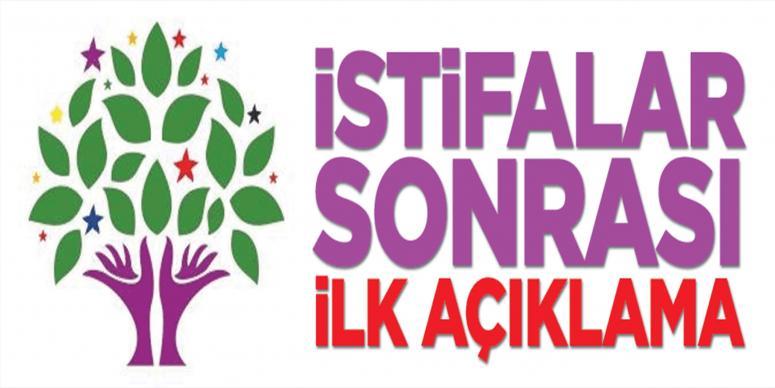 HDP'den istifalarla ilgili ilk açıklama