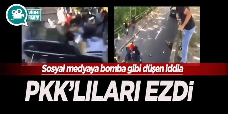 Sosyal medyayı yıkan görüntüler: PKK'lıları ezdi iddiası