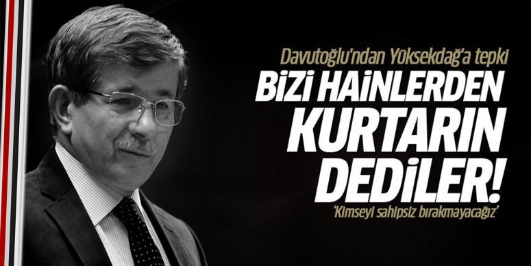 Davutoğlu'ndan Figen Yüksekdağ'a tepki